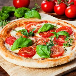 Fresh Mozzarella, Basil, Extra Virgin Olive Oil & Tomato Sauce